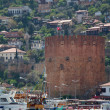 Kizil Kule (Red Tower), inTurkish city of Alanya — Stock Photo #6627121