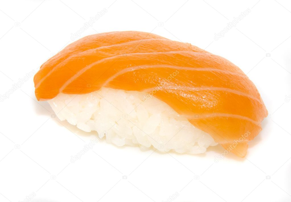 Japan traditional food - sushi isolated — Stock Photo #6625222