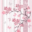 Stock Vector: Japanese cherry blossom