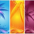 Tropical palm, background summer — Stock Vector