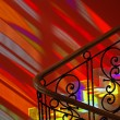 Spots of colored light on the stairs. — Stock Photo #5636228