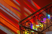 Spots of colored light on the stairs. — Stock Photo