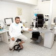 Stock Photo: Doctor, in ophthalmology clinic