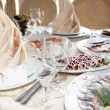 Stock Photo: Food at banquet table