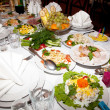 Food at banquet table — Stock Photo #6078593