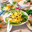 Food at banquet table — Stock Photo #6078601