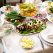 Food at banquet table — Stock Photo #6078610
