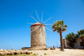 Mill in Rhodes harbor,Greece. — Stock Photo
