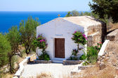 White small chapel in Lindos — Stock Photo