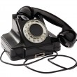 Old black vintage rotary style telephone — Стоковое фото
