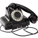 viejo teléfono negro estilo vintage rotatorio — Foto de Stock