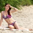 Young woman sunbathing — Stock Photo #6565514