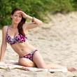 Young woman sunbathing — Stock Photo #6565514