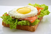 Fish breakfast — Stock Photo