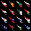 Set of european, africand americflags on wings — Stock Photo #5994797