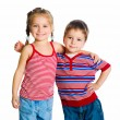 Stock Photo: Little boy and girl