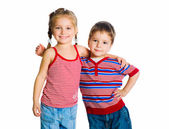 Little boy and girl — Stock Photo