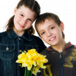 Happy Kids Sister and Brother — Stock Photo