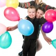 Kids with the ballons — Stock Photo