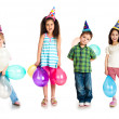 Kids in birthday caps — Stock Photo #5495921