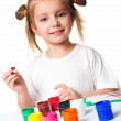 Little girl with paint — Stock Photo #5589134