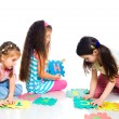 Stock Photo: Children are playing letters