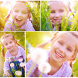 Cute little girl on the meadow — Stock Photo #5714697