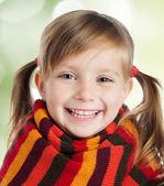 Sciarpa a righe bambina — Foto Stock