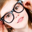 Pretty young girl in glasses — Stock Photo