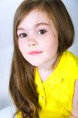 Portrait of a pretty little girl — Stock Photo