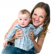 Pretty young women with her son — Stock Photo #5826773