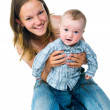 Stock Photo: Pretty young women with her son