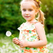 Stock Photo: Cute little girl on the meadow