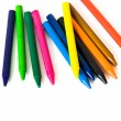 Wax color crayons — Foto Stock