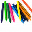 Wax color crayons — Stock Photo