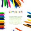 Stock Photo: Wax color crayons isolated