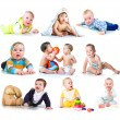 Stock Photo: Collection photos of a kids
