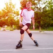 Young active roller blade skater — Stock Photo
