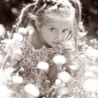 Little girl  on the meadow - Stockfoto