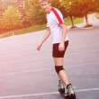 Young active roller blade skater — Stock Photo #6162927