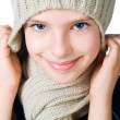Little girl in cap and scarf — Stock Photo #6221393