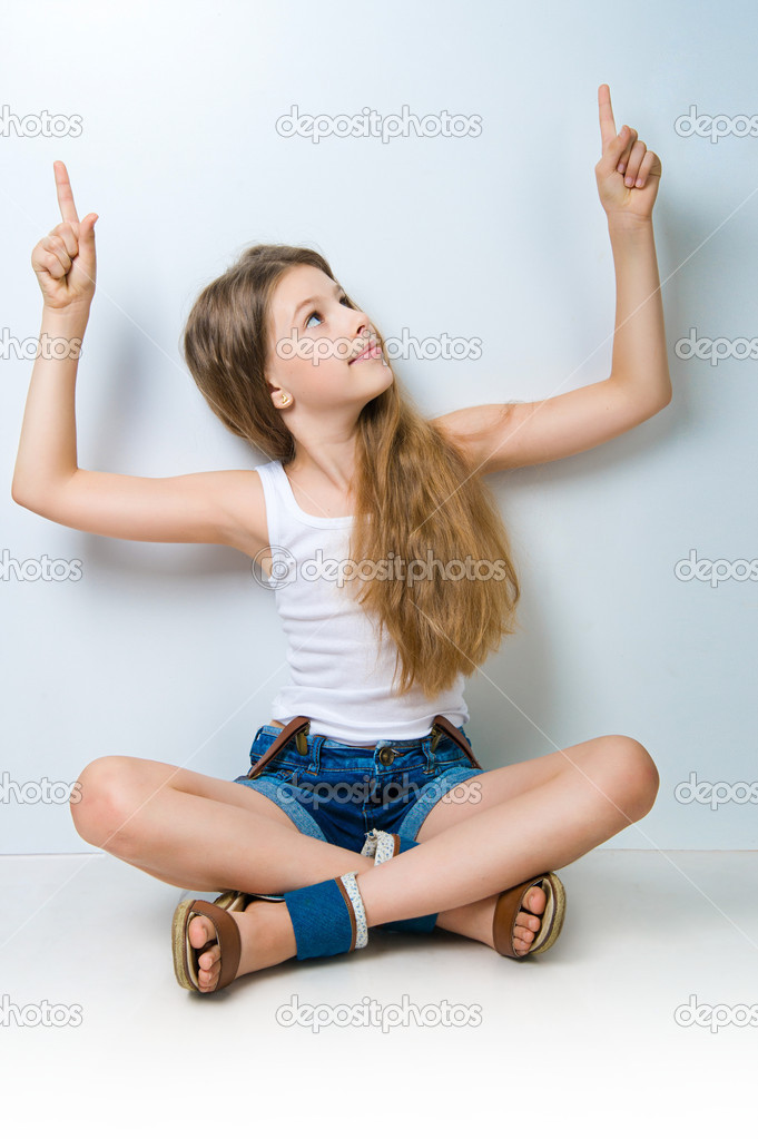 Cute child behind a white board isolated — Stock Photo #6221478