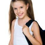 Cute schoolchild with knapsack — Stock Photo #6259301