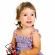Small baby with developmental toy — Stock Photo