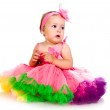 Little girl in fairy costume — Stock Photo