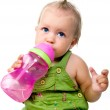 Little girl with the bottle of water — Stock Photo