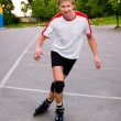Young active roller blade skater — Stock Photo #6406177