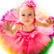 Little girl in fairy costume - 图库照片