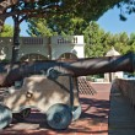 Medieval cannon in old city Monaco — Stock Photo