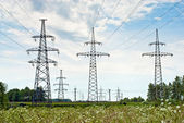 Power lines — Stockfoto